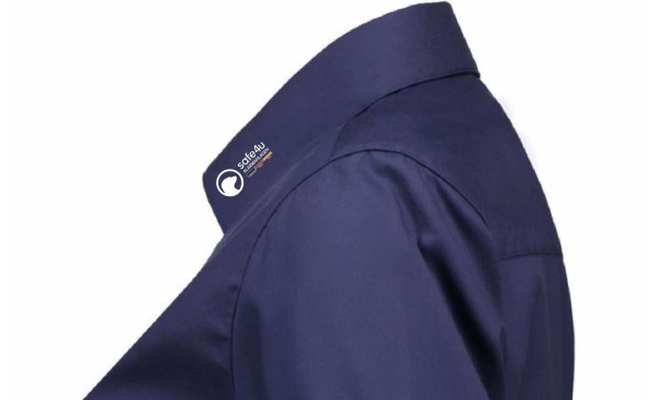 Kurzarm Bluse - Modern Fit - mit safe4u Logo
