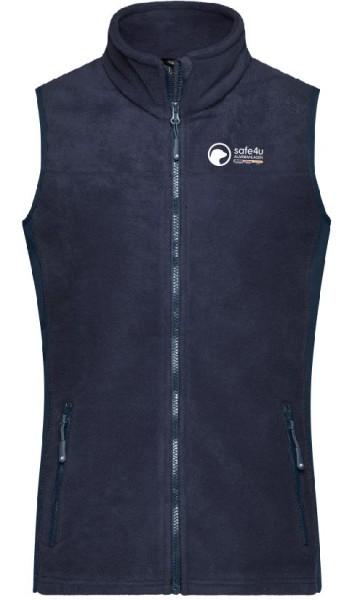 Workwear Damen Fleece Weste mit safe4u Logo