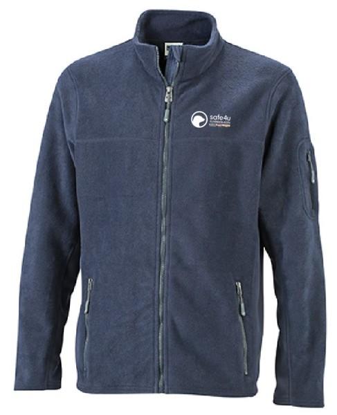 Workwear Herren Fleecejacke mit safe4u Logo